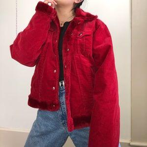🖤Fur-lined corduroy jacket